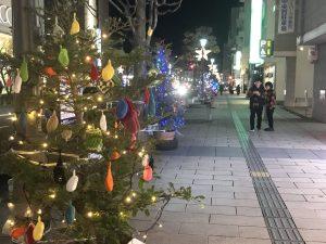 伊勢町通的聖誕樹比賽活動